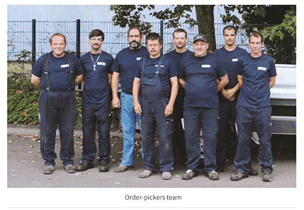 Order-pickers team